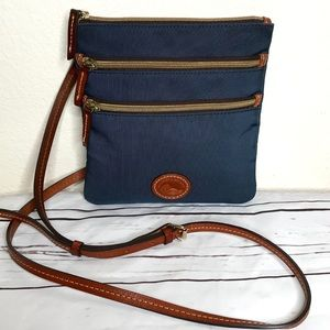Dooney & Bourke North South Triple Zip Nylon Bag